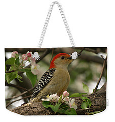 Weekender Tote Bag featuring the photograph Red-bellied Woodpecker by James Peterson