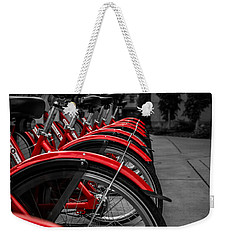 Red Bicycles Weekender Tote Bag