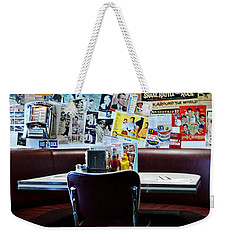 Red Booth Awaits In The Diner Weekender Tote Bag by Nina Prommer