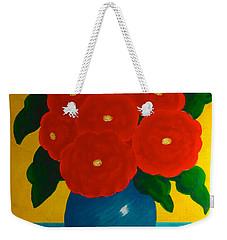 Red Bouquet Weekender Tote Bag by Anita Lewis