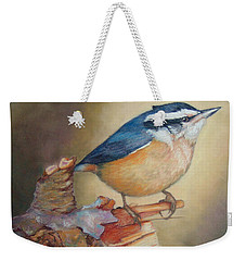 Red-breasted Nuthatch Bird Weekender Tote Bag