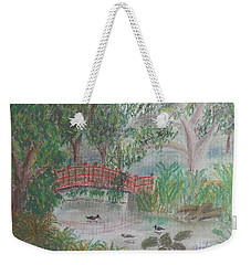 Red Bridge At Wollongong Botanical Gardens Weekender Tote Bag
