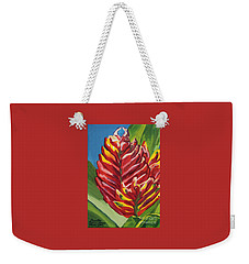 Red Bromeliad Weekender Tote Bag
