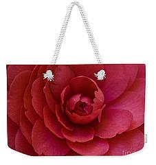 Red Camellia Weekender Tote Bag by Cindy Garber Iverson