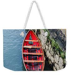 Red Canoe Weekender Tote Bag by Mary Carol Story
