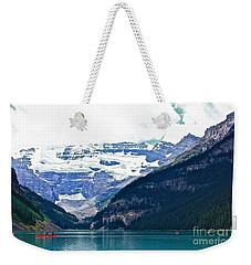 Red Canoes Turquoise Water Weekender Tote Bag