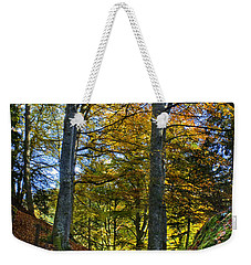 Red Carpet In Reelig Glen During Autumn Weekender Tote Bag