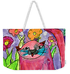 Red Cat Weekender Tote Bag