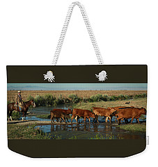 Red Cattle Weekender Tote Bag