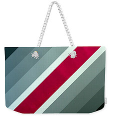 Weekender Tote Bag featuring the painting Red Chevron by Thomas Gronowski