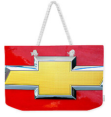 Red Chevy Bowtie Weekender Tote Bag