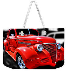 Red Chevy Hot Rod Weekender Tote Bag by Victor Montgomery