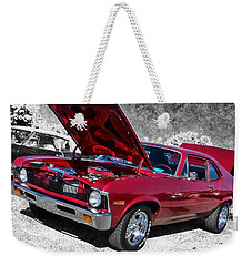 Red Chevy Nova Weekender Tote Bag by Victor Montgomery