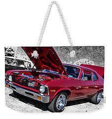 Red Chevy Nova Weekender Tote Bag