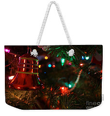 Red Christmas Bell Weekender Tote Bag by Kerri Mortenson