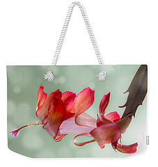 Red Christmas Cactus Bloom Weekender Tote Bag