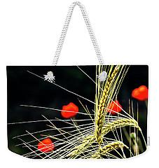 Red Corn Poppies Weekender Tote Bag