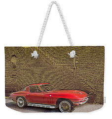 Red Corvette Weekender Tote Bag by Steve Karol