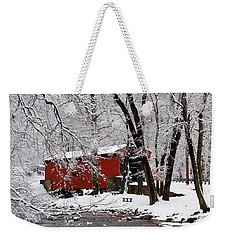 Red Covered Bridge Winter 2013 Weekender Tote Bag