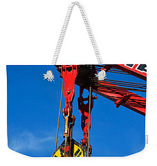 Red Crane - Photography By William Patrick And Sharon Cummings Weekender Tote Bag by Sharon Cummings
