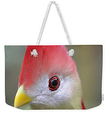 Red Crested Turaco Weekender Tote Bag