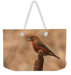 Red Crossbill Weekender Tote Bag by Charles Owens