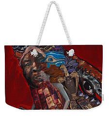 Red Crow Weekender Tote Bag by Emily McLaughlin