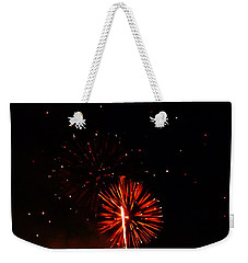 Weekender Tote Bag featuring the photograph Red Dahlia by Amar Sheow