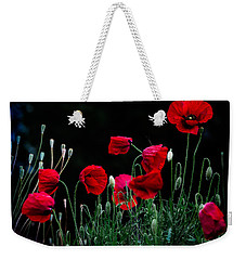 Red Dance Weekender Tote Bag by Edgar Laureano