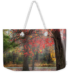 Red Dawn Square Weekender Tote Bag