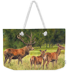 Red Deer Family Weekender Tote Bag