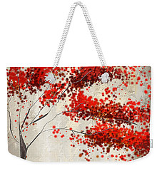 Red Divine- Autumn Impressionist Weekender Tote Bag