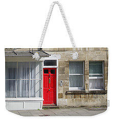 Red Door In Bath Weekender Tote Bag