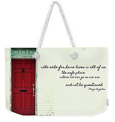 Red Door Quote Weekender Tote Bag