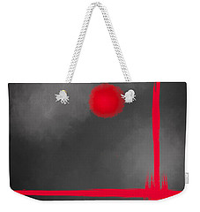 Red Dot Weekender Tote Bag by Anita Lewis
