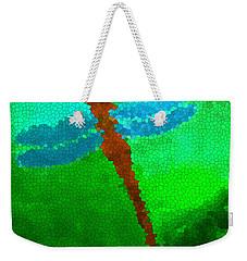 Red Dragonfly Weekender Tote Bag by Anita Lewis