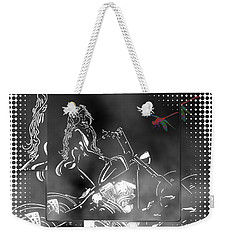Red Dragonfly Weekender Tote Bag by Mayhem Mediums
