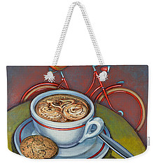 Red Dutch Bicycle With Cappuccino And Amaretti Weekender Tote Bag