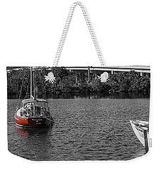 Red E 2 Sail Weekender Tote Bag