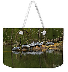 Red-eared Slider Turtles Weekender Tote Bag