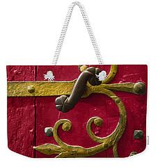 Red Entrance Weekender Tote Bag