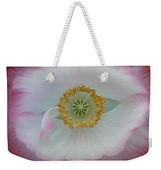 Weekender Tote Bag featuring the photograph Red Eye Poppy by Barbara St Jean