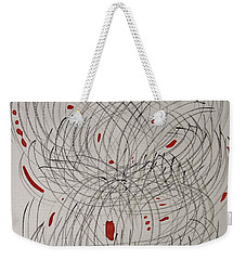 Red Fan Weekender Tote Bag
