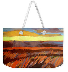 Weekender Tote Bag featuring the painting Red Field by Helena Wierzbicki