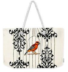 Red Finch Weekender Tote Bag by Stefanie Forck
