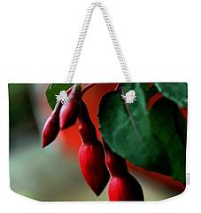 Red Flower Buds Weekender Tote Bag by Pamela Walton