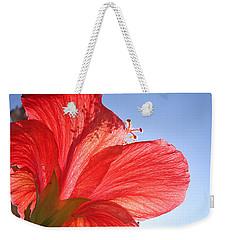 Red Flower In The Sun By Jan Marvin Studios Weekender Tote Bag