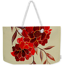 Red Flowers - Painting Weekender Tote Bag