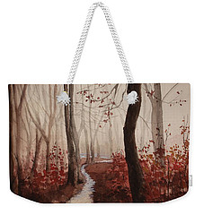 Red Forest Weekender Tote Bag