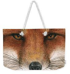 Red Fox Gaze Weekender Tote Bag